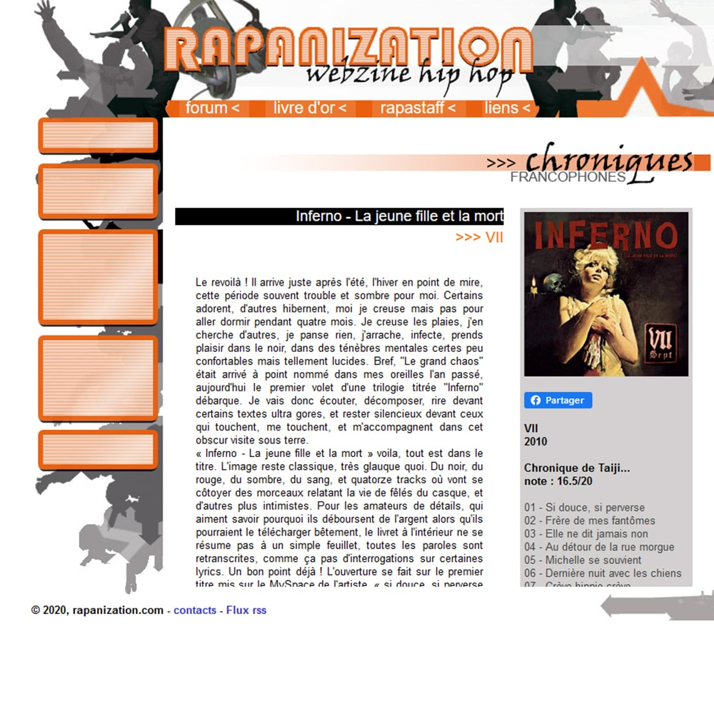 Chronique INFERNO 1 Rapanization