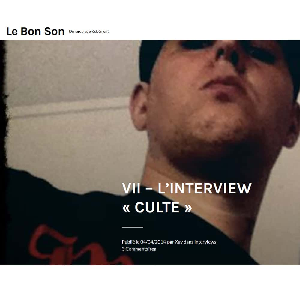 Interview Culte LEBONSON